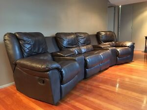 Leather  Home Theatre couch Tea Gardens Great Lakes Area Preview
