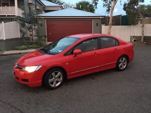 2008 Red Honda Civic Vti-L 8th Gen 5sp Manual Sedan with RWC AND REGO Woolloongabba Brisbane South West Preview