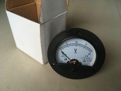 New Round Analog Volt Panel Meter 65c5 Dc 020v