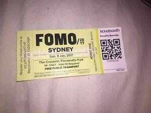 FOMO 2017 SYDNEY TICKET FOR SALE $100 Newcastle Newcastle Area Preview