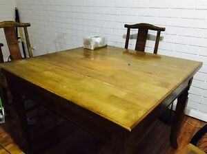 Timber Dining Table + 4* Timber Chair Ivanhoe Banyule Area Preview