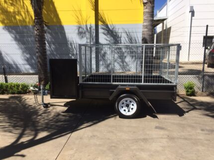 7 x 5 H/D + Mower Tray + 3Ft Gal Mesh Crate Trailer