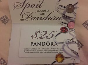 Pandora Gift gift card $25 selling for $15 Rhodes Canada Bay Area Preview