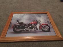 Harley Davidson in Wooden Frame Rostrevor Campbelltown Area Preview