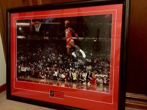 Michael Jordan Framed Poster NBA Chicago Bulls Slam Dunk Panorama Mitcham Area Preview