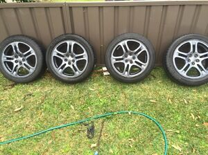 Subaru Wrx rims and tyres Bardwell Valley Rockdale Area Preview