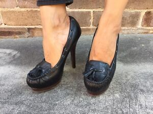 WITCHERY LEATHER HEELS Sz7 $40 Arncliffe Rockdale Area Preview