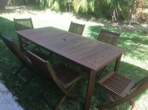 7 piece outdoor dining set Keperra Brisbane North West Preview