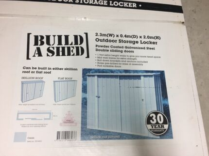 NEW Build A Shed - Outdoor Storage Locker - 2.3(W) x 0.4(D) x 2.0(H)