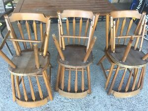 6 wooden dining chairs & table Raceview Ipswich City Preview