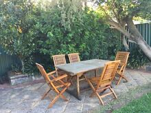Outdoor table and chairs set Strathfield South Strathfield Area Preview