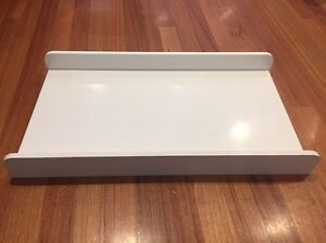 Solid white wooden baby change table top Highett Bayside Area Preview
