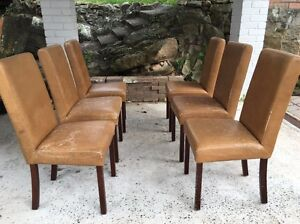 6 x faux leather dining chairs East Ryde Ryde Area Preview