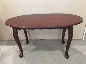 Brand New Solid Teak Oval Coffee Table Albert Park Port Phillip Preview