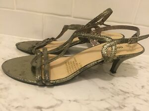 Bronze Kitten Heel Strappy Heels size 8 Seaton Charles Sturt Area Preview