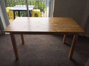 Wooden IKEA dining table Coogee Eastern Suburbs Preview