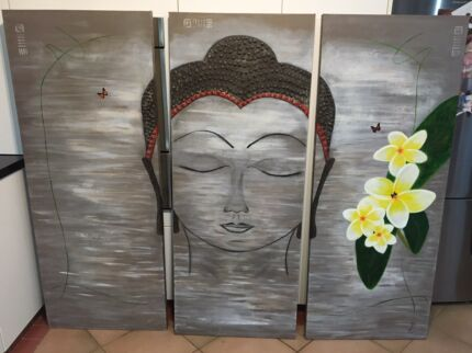 Buddha head canvas oil painting
