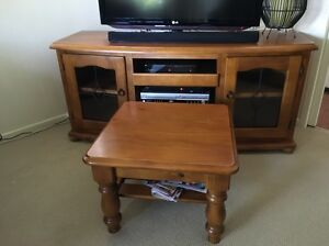 Baltic timber entertainment unit & coffee table Woy Woy Gosford Area Preview