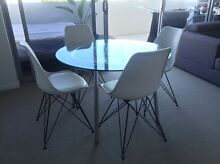 Glass dining table and chairs Lutwyche Brisbane North East Preview