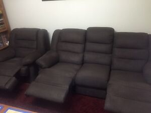 Chocolate suede lounge suite. Nambour Maroochydore Area Preview