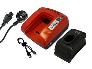 7.2-18V Ladegerät für BLACK & DECKER CD18C, CD18CA, Rot, 1 Jahr Garantie