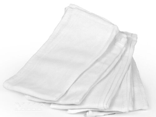24 Pieces-NEW WHITE GLASS CLEANING HUCK/ SURGICAL/SHOP AND  DETAILING TOWELS