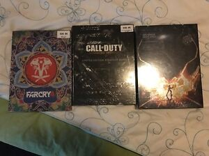 Farcry, halo and call of duty collector books Nundah Brisbane North East Preview