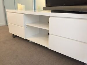 White TV cabinet Fortitude Valley Brisbane North East Preview