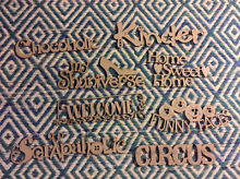 Scrapbooking Chipboard Die Cuts- PHRASES theme pack Ferntree Gully Knox Area Preview