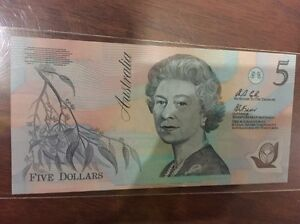 5$ uncirculated banknote South Morang Whittlesea Area Preview