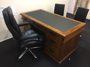 Desk and 3  chairs Gatton Lockyer Valley Preview