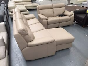 Leather Electric Sofa Set - 60% off RRP Dandenong South Greater Dandenong Preview