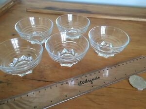 Five small glass dishes Birmingham Gardens Newcastle Area Preview