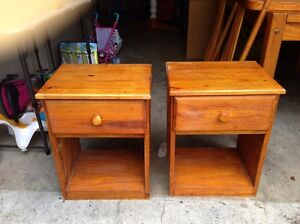 2 x Pine Bedside Tables Waverley Eastern Suburbs Preview