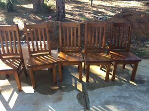 Solid wooden chairs Mount Nasura Armadale Area Preview