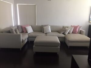 Large 5PC Neutral Modular Lounge with Chaise & Ottoman, Excel Cond Maroubra Eastern Suburbs Preview