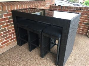 Outdoor bar table with 6 chairs Gladesville Ryde Area Preview