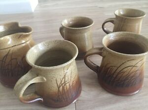 Handmade pottery mugs and milk jug Merewether Newcastle Area Preview