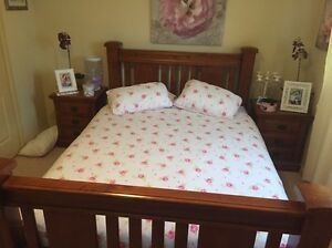 Queen size solid timber bedroom suite Werrington Penrith Area Preview