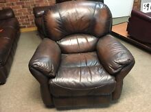 3 Piece Leather Jason Reclining Suite St Marys Mitcham Area Preview