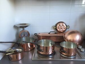 15 NEW French Copper  saucepans Mauviel mixing bowl Vaucluse Eastern Suburbs Preview