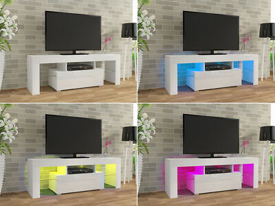 Wooden High Gloss TV Unit 130cm Cabinet Stand Modern Living Room Furniture Table