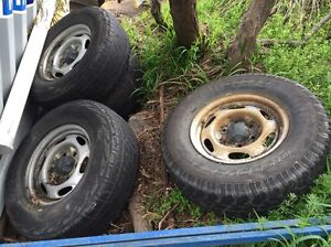 Ford ranger rims and tyres x4 Lindisfarne Clarence Area Preview
