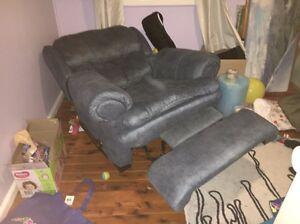 Blue recliner Ermington Parramatta Area Preview