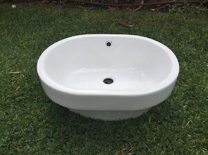 Inset bathroom basin white porcelain Leichhardt Leichhardt Area Preview