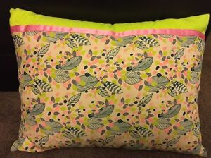 Leaf Print Cushion Two Wells Mallala Area Preview