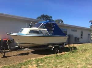 Cruise craft with half cabin and exc cond 4 stroke mercury Lenah Valley Hobart City Preview