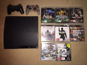 PlayStation 3 + 2 controllers + 8 games Thornton Maitland Area Preview