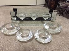 Crystal candle holders Gillieston Heights Maitland Area Preview