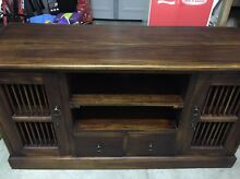 Solid wood tv unit Botany Botany Bay Area Preview